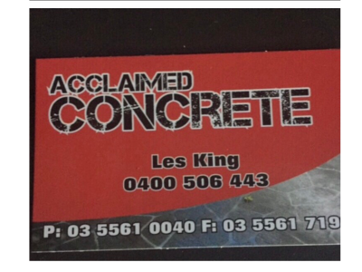 Acclaimed Concrete